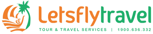 logo lets fly travel cong ty du lich uy tin nha trang