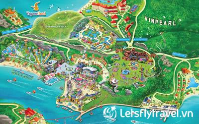 Bản đồ Vinpearl Land Nha Trang mới nhất 2019